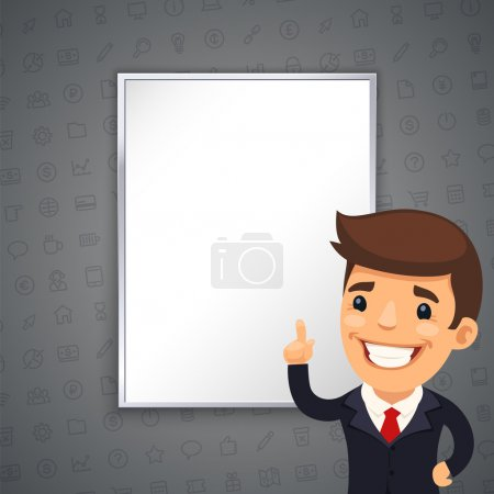 Gray Business Background with Boss