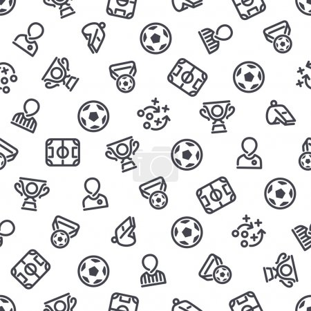 Soccer Icons Seamless Background