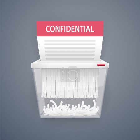 Shredding Documents for Security. Clipping paths i...