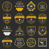 Vector Set of Badges Logos and Sign Break Dance