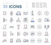 Vektor nastavit řádek ikon pivo