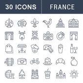 Nastavit vektor rovinu ikony Francie a Paříž