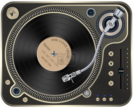 Interface Turntables on Whete Background.