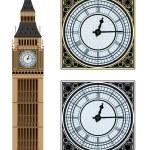 Landmark Big Ben and the clock. Vector illustratio...