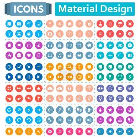 Ensemble universel d'icônes dans le Style de conception matérielle