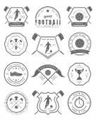 Vector Set of Football Badge and Logo
