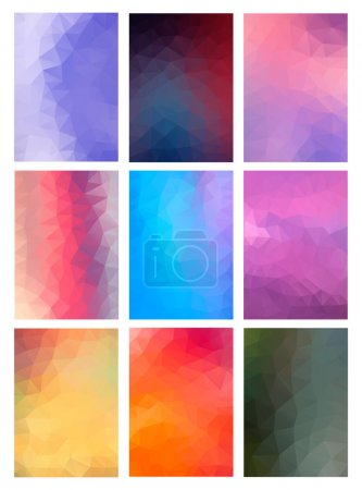 Set Abstract Modern Poligonal Background