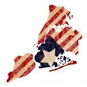 Vector Polygon Map of New York