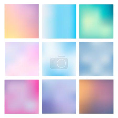 Illustration pour Grand ensemble de milieux flous vectoriels. La collection couvre vos projets. Maillages colorés pour les présentations et les projets web . - image libre de droit