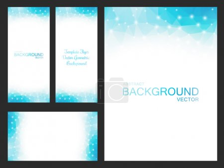 Illustration for Set of vector artwork for flyers, leaflets, cards, invitations, business cards, labels and covers. Blurred backgrounds for your business projects - Stock Vector - Royalty Free Image