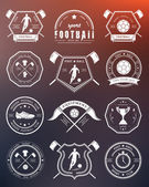 Vector Set of Football Badge and Logo