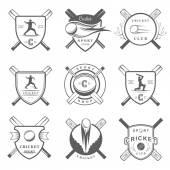 Sada vektorové odznaky kriket