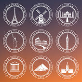 Set Vector Badges of Travel