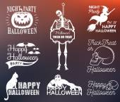 Set Halloween Badges and Symbols