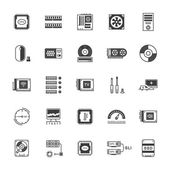 Set Vector Icons Upgrading Computer