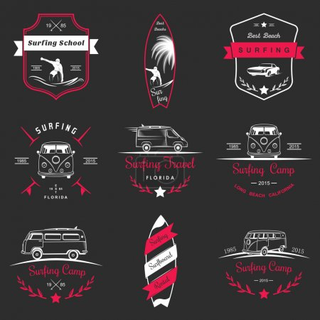 Set of Vector Surf Logo and Badges