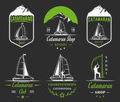 Set Catamaran Logos and Badges