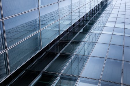 Business building, office buildings. Modern glass silhouettes on