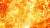 "Постер, картина, фотообои ""сверкайте структура пламени огня"""