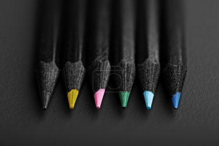Black colored pencils