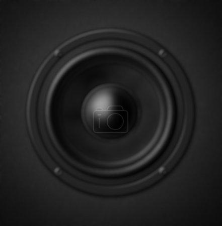Defocusing black speaker