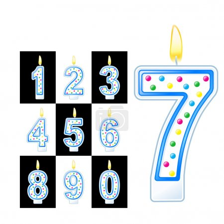 Birthday numbers candles