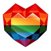 Rainbow heart cartoon