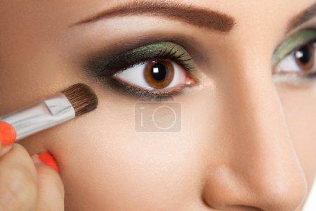 Glamour make up woman eye close up