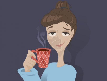 Illustration for Coffee girl - Royalty Free Image