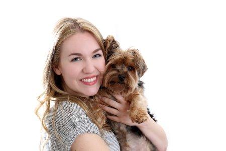 Woman dog