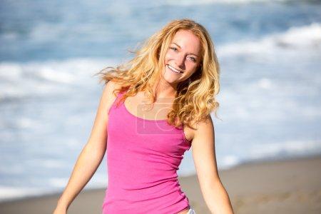 Woman beach