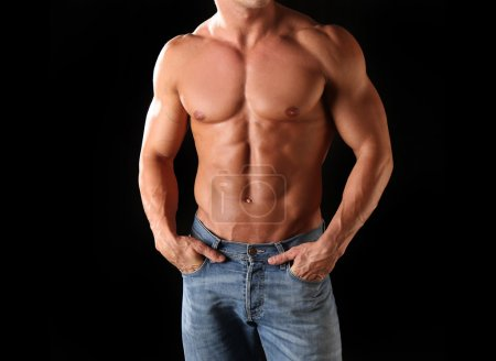 Athletic male body