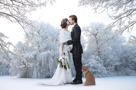 Beautiful winter wedding