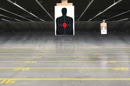 Shooting range illustration