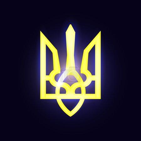 Bright Coat of arms of Ukraine
