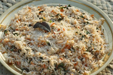 Biryani - An Indian rice dish made with rice, spices and a combination of meat or vegetables