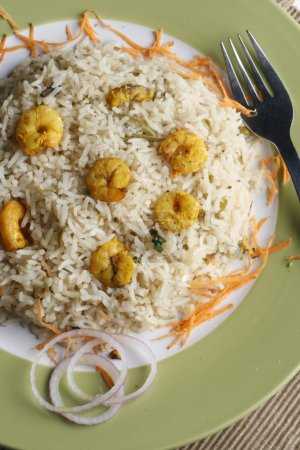 Prawn Biryani - A tasty combination of prawn and basmati rice.