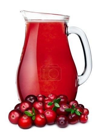Pitcher of cranberry juice