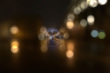 Defocused avenue lights