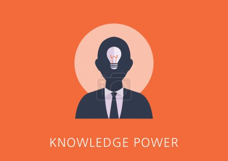knowledge power concept flat icon