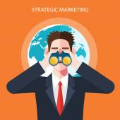 Flat character of strategic marketing concept illustrations
