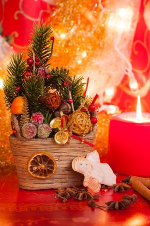 Christmas deco with candel
