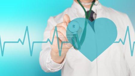 doctor, stethoscope, heart pulse