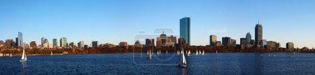 Panoramic view of the Boston, Massachusetts skyline