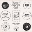 Hand Made Labels, Badges and Design Elements in Vi...
