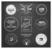 Hand Made Labels Badges and Design Elements in Vintage Style