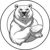 Vector illustration of a polar White bear