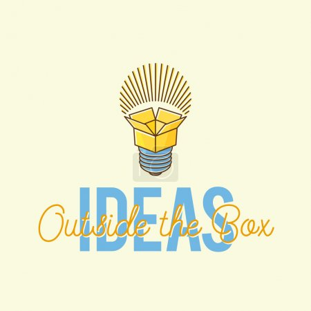 Ideas Outside The Box Abstract Vector Concept Logo Template.