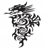 Big dragon illustration