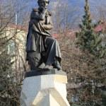 Постер, плакат: Bronze sculpture to famous Russian poet Lermontov Pyatigorsk R